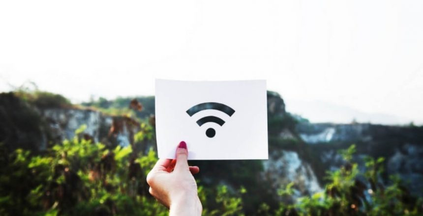 Wifi icon on a piece of paper